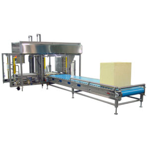 640 block automated cheese handling, 640lb Block/ 500lb barrel cutters, cheese converting machinery, cheese converting equipment, cheese manufacturing equipment