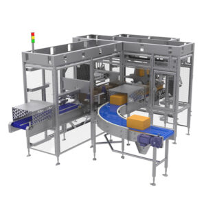 deboxing automated cheese handling, cheese manufacturing equipment