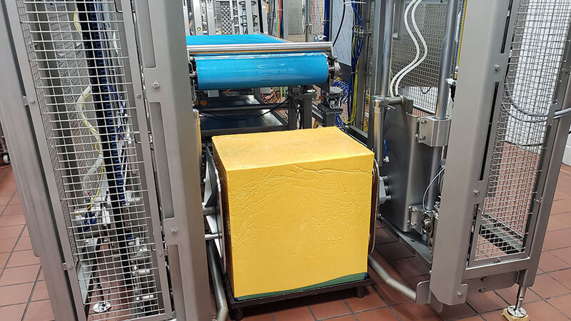 safe automated cheese handling, cheese manufacturing equipment