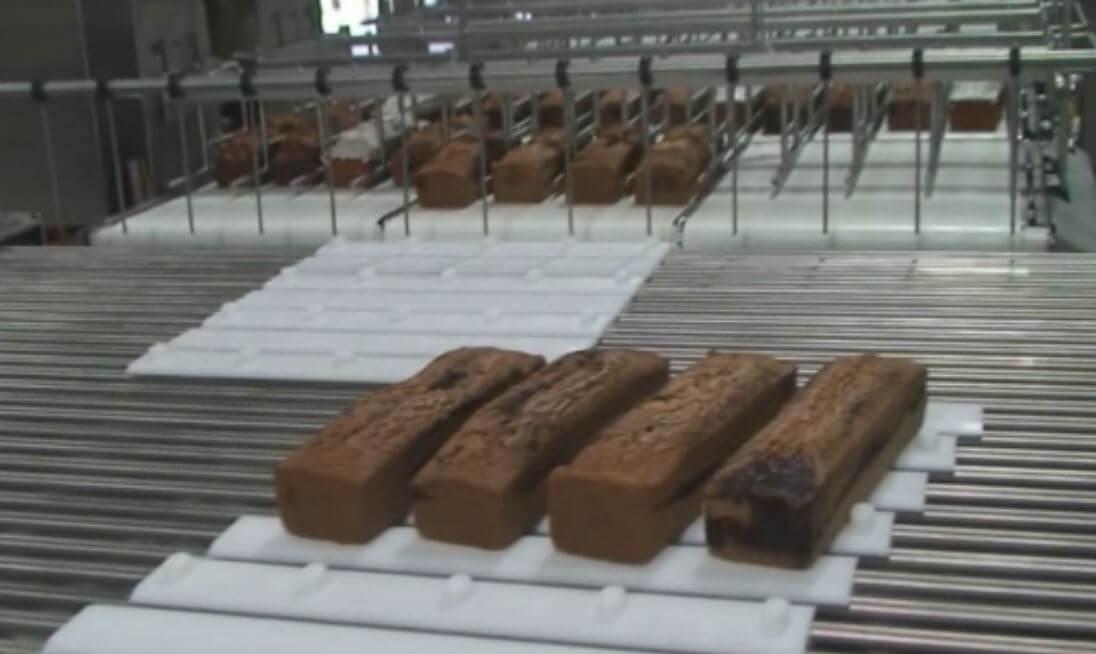 high speed loaf cake cutting