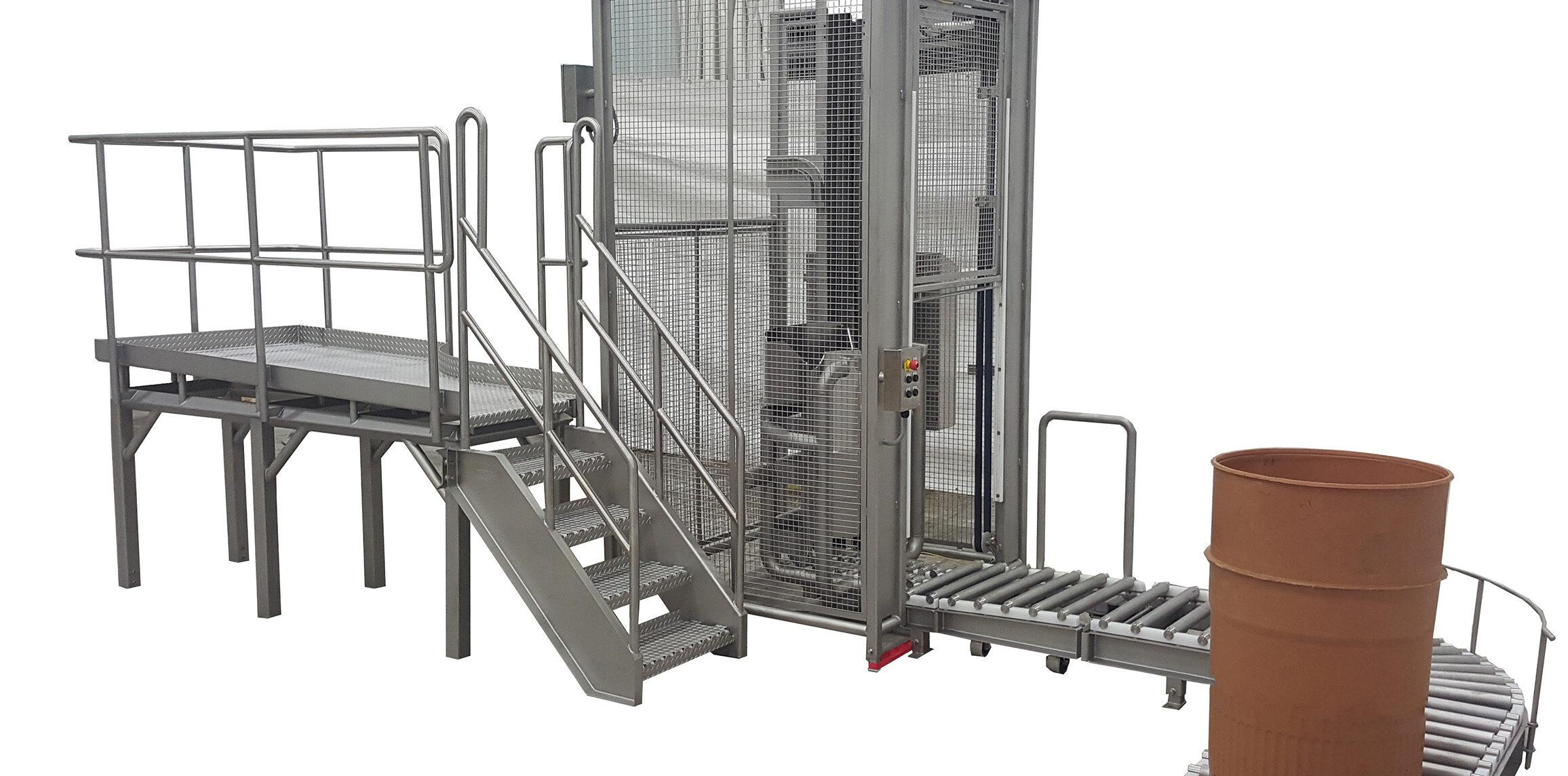 food processing dumping equipment