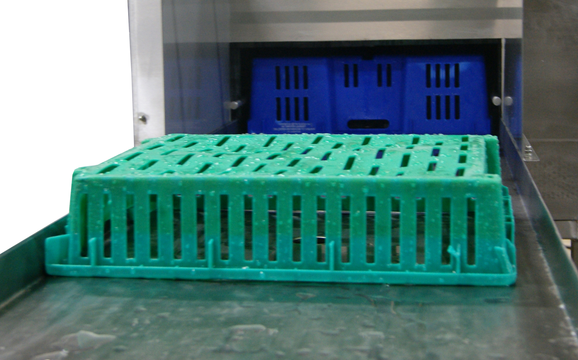 industrial tray washing machine used in food processing
